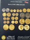 Catálogo de subastas de monedas de Martí Hervera y Soler y Llach. Abril 2015.
