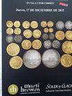Catálogo de subastas de monedas de Martí Hervera y Soler y Llach. Diciembr 2015.