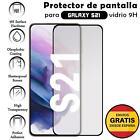 Protector de Pantalla para Samsung Galaxy S21 Negro cristal templado 3D Completo