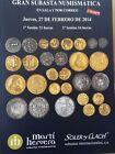 Catálogo de subastas de monedas de Martí Hervera y Soler y Llach. Febrero 2014.