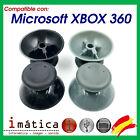 JOYSTICK XBOX 360 NEGRO GRIS ANALOGICO MANDO CONTROLLER THUMB STICK X2 UNIDADES
