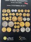 Catálogo de subastas de monedas de Martí Hervera y Soler y Llach. Febrero 2017.