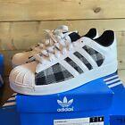 BNIB Adidas Superstar 1 Trainers UK 8 G14793 Plaid White Sneakers