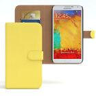 Tasche für Samsung Galaxy Note 3 Case Wallet Schutz Hülle Cover Gelb