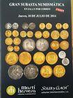 Catálogo de subastas de monedas de Martí Hervera y Soler y Llach. Julio 2014.
