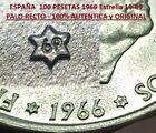 @AUTENTICO PALO RECTO@ 100 PESETAS 1966 * 19 69 PLATA FRANCO SC España 1969