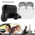 2Pcs Stereo Wireless Bluetooth Earbuds Headsets Earphones with Charging Box