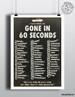 GONE IN 60 SECONDS - Minimalist Classic Car Movie Poster Posteritty Minimal Cage