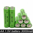 1-12 pieces 100% new AA battery 3000 1.5 V rechargeable battery 3000mAh