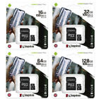 Kingston 16GB 32GB 64GB Micro SD Class10 Tarjeta de Memoria 80MB/s + Adaptador