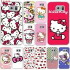 Lavaza Fashionable Hello Kitty Hard Transparent for Samsung Galaxy S6 S7 S8 S9 E