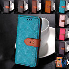 For Samsung Galaxy S9 S8+ S5 S7 S6 Genuine Leather Buckle Flip Case Wallet Cover