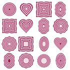 Multi-piece Frame Metal Cutting Die Stencil For Diy Scrapbooking Cards Crafts