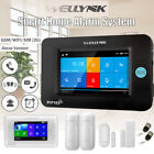Wireless Security Full Touch Screen GSM WiFi Smart Home Burglar Alarm System