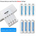 4x3000mAh /1200mah AA Rechargeable Batteries NI-MH 1.2V Or 4-Bay Battery Charger