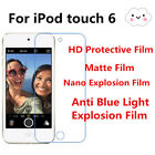 3pcs For iPod touch 6 High Clear/Matte/Nano Explosion/Anti Blue Ray Screen Film
