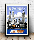 New York : Vintage Travel Advertising  Poster reproduction