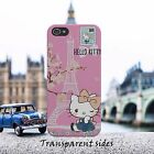 Hello Kitty Paris Love Cute Pink Phone Case Cover Fits iPhone, Samsung Huawei
