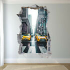 USA NEW YORK YELLOW TAXI WALL STICKERS 3D ART MURAL POSTER OFFICE HOME DECOR UT9
