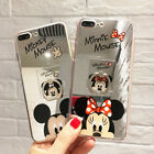 For Samsung S10+ Note 9 Cute Minnie Hello Kitty Mirror Case Cover & Ring Stand
