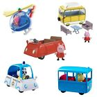 Peppa Pig Small Car Small School Bus OR Campervan Inc Figure Fun Toy NEW BOXED
