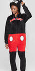 Disney Mickey Mouse Women s Micro Fleece One-Piece Hooded Pajamas S M L XL