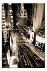New York Taxis Times Square Aerial View Poster New - Laminated Available