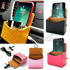 Car Wireless Fast Charger Charging Storage Box Case For iPhone Samsung Phones