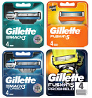 Gillette Blades Razor - Fusion 5 ProGlide Power ProShield Chill Mach 3 Turbo