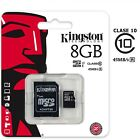 Tarjeta de memoria Micro SD Kingston 8GB 16GB 32GB 64GB 128GB class 10