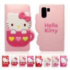 Hello Kitty Enamel Leather Cute Card Flip Case For Samsung Galaxy Note10 Note10+