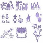 Cartoon Animals Poppy Kids Metal Cutting Dies Stencil For Scrapbooking Embossing