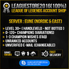 LOL Acc League of Legends Account  EUNE Smurf Level 30 Unranked INSTANT DELIVERY