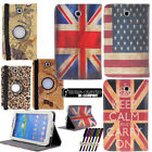 Rotating Stand Leather Case Cover For Samsung Galaxy Tab 3 4/Tab S/Note/TabPro