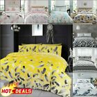 DUVET COVER SET Quilt Pillow Cases Reversible Soft Bedding Grey Double King Size