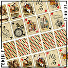 Alice in Wonderland Vintage playing cards icing or wafer Cake cupcake toppers