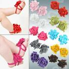 BABY GIRL/TODDLER COTTON BAREFOOT SANDALS/PRAM CRIB SHOES VARIOUS COLOURS