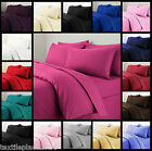 Plain Duvet Quilt Cover with Pillow Case Bedding Set Single Double King All Size