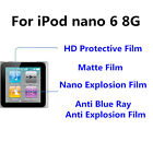 3pcs For iPod nano 6 8G  Good Touch Matte/High Clear Screen Protector