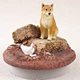 Shiba Inu Candle Topper Tiny One A Day on the Farm by Conversation Concepts