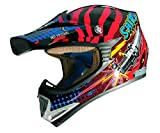 Shiro - MX-306 Casco Cross Infantil ROCKIDS Rojo (YM (51-52))