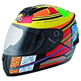 Casco integral niño SHIRO SH-829 IRIS, color amarillo y rojo, (Jaune / Rouge), YL