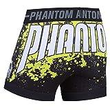 "Phantom Athletics Vale Tudo-Pantalones cortos ""Neon Splatter Función Pantalones, BJJ Grappling Freefight MMA Pantalones Cortos Para Hombre, color negro, tamaño XL"