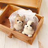 "Hamanaka wool felt kit ""Shiba Inu & Shih Tzu"" H441-341 (japan import) by Hamanaka"