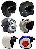 Casco de la Motocicleta Jet Casco Cascos Abiertos VIPER RS-V06 Casco de Moto Con Visera Nuevos Colores (M, Matt Negro)