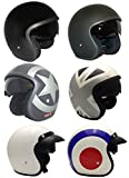 Casco de la Motocicleta Jet Casco Cascos Abiertos VIPER RS-V06 Casco de Moto Con Visera Nuevos Colores (S, Target (con el pico))