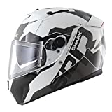 Casco SHARK HE4752EWKAM : SPEED-R 2 SAUER II color NEGRO BLANCO ANTRACITA talla M