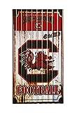 South Carolina gallos de pelea Metal corrugado Arte de la pared