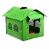 Puede desmontar el dinero-criadero de perros pequeños suministros de mascotas dog house verano caniche bichón plástico fris pomeranin Océ gatos Casa Wo, Wo verde, 38*45*41cm.