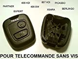 Carcasa para mando a distancia sin tornillos, compatible con Peugeot Partner, 406, Citroen Xsara, Berlingo, Picasso